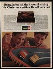 1967 REVELL REBEL 400 Banked Raceway Electric Race Track - Mustang - VINTAGE AD