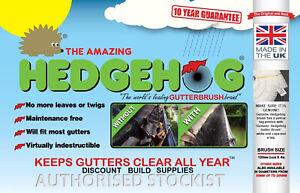 75mm BLACK Hedgehog Gutter Brush Guard Caravan Conservatory 10 Year Guarantee