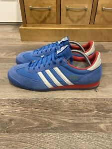 Rare Adidas Dragon 2011 Blue With White And Red Trim US 11 UK 10.5
