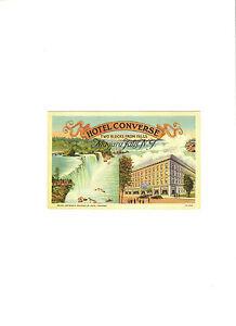 Hotel Converse Niagara Falls New York Post Card unused