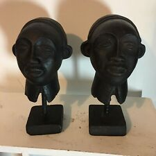 More details for two african heads on stand