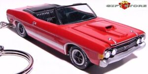 HTF KEY CHAIN RED FORD FAIRLANE TORINO GT CONVERTIBLE NEW CUSTOM LIMITED EDITION