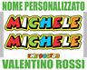 Adesivo Nome Personalizzato - Stile Valentino Rossi The Doctor - 2 Pezzi
