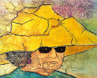 YELLOW HAT Lynne French Artist Signed Print 8x11