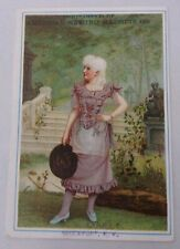 VICTORIAN TRADE CARD America Sewing Machine Co. Garden Lady Old Antique