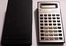 Calcolatrice del 1980/82 Texas Instruments TI-30 LCD con custodia - si accende