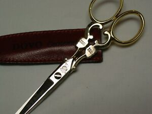 DOVO Embroidery Scissors Centennial Gold and Nickle plate #40 5""