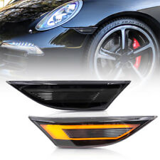 Smoke Lens Amber LED Side Marker Light for 12-up Porsche 991 Carrera 718 Cayman