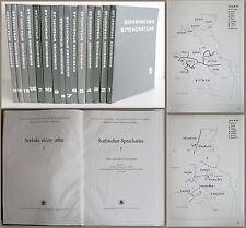 Sorabo Atlas de la lengua 15 Volúmenes 1965-1996 completo rara Sorabsitik