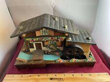 "Vintage Swiss Chalet Moving Waterwheel ""Tune-Summer Wind"" Trinket Music Box"