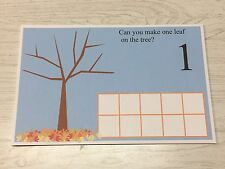 Fall Leaves Count - Dry Erase - Laminated 1-10 Activity Set - Teaching Supplies