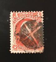 Stamps Canada Newfoundland Sc33 3c ver.Victoria of 1870,Pl see description.