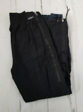 Vintage Patagonia Ski Pants Full Zip Size 8 Black