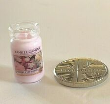 Dolls House Miniature 1:12th Scale accessory Yankee Candle Fresh Cut Roses