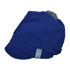 PICKAPOOH Schirmmütze Luna Bio-Wollwalk (Grauer Pompom) Damenmütze Kindermütze