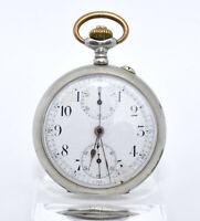 Alte Taschenuhr mit Stoppfunktion Chronograph Stoppuhr Pocket Watch