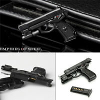 Black Plastic Pistol Model 1/6 QSZ92 Semi-automatic Gun Toys Accessory F Figure