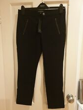 Banana Republic Sloan Fit Crop Black Trouser US Size 4 which is a UK size 6