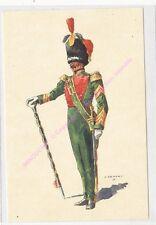 CP MILITARIA J DEMART Costumes Militaires Belges chasseurs à pied tambour major