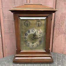 Antique German Bracket Mantel / Shelf Clock w/ Westminster Chimes, Kienzle