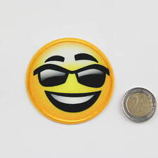 Applikation Stickerei Smiley Coole Sonnenbrille - variabel einsetzbar - Ø 6,5 cm