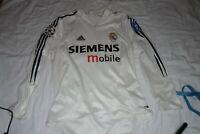 Real Madrid Jersey 2004 2005 Cup S Shirt Mens Long Sleeve Camiseta Adidas