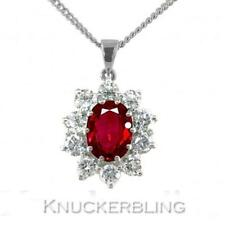 Ruby Cluster Natural Fine Necklaces & Pendants