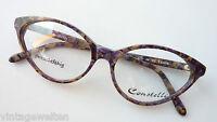 Brille Damenbrille Katzenaugen Naturtöne marmoriert Plastikgestell Grösse M