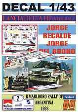 DECAL 1/43 LANCIA DELTA INTEGRALE J.RECALDE R.ARGENTINA 1988 WINNER (04)