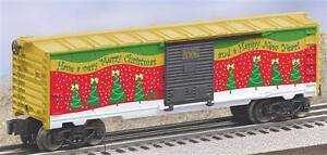 Lionel 6-25008 Christmas Boxcar 2006 Holiday car red green & gold O gauge 027