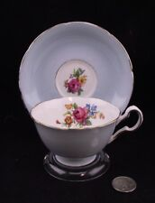 ROBIN EGG BLUE ARTIST SIGNED ROYAL GRAFTON CABINET TEA CUP AND SAUCER