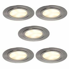 LED Set de 5 Foco empotrable 5x3watt fondo armario 552054