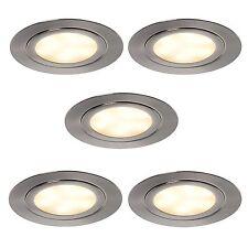 LED 5er Set Einbauleuchte 5x3Watt Einbauspot Schrankboden Einbaustrahler *552054