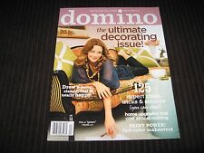 DOMINO MAGAZINE APRIL 2008 DREW BARRYMORE ULTIMATE DECORATING ISSUE W/STICKERS