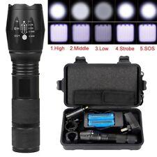 30000LM X800 Ultrafire CREE T6 LED Flashlight  Torch 2PCS 5000mAh 18650 Battery