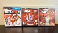 Lot of 3 PS3 Basketball Games NBA 2K11 2K13 2K14 COMPLETE CIB TESTED Playstation