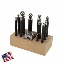 14 pc DOMING DAPPING ROUND FORMING SET JEWELRY MAKING TOOLS GOLD SILVER COPPER