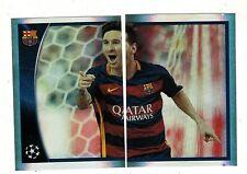 Brazil Version 2015-16 Topps UEFA Champions League Sticker #614-615 Messi Puzzle