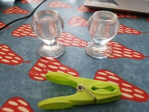 2 Glass small partylite candlestick holders Brand new
