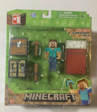 2014 Minecraft Overworld Steve Survival Pack Figure Series 1 New Sealed