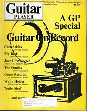 GUITAR PLAYER MAGAZINE SEPTEMBER 1972 (FR/GD) CHET ATKINS, WALLY HEIDER