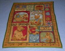 "New listing 2004 Teresa Kogut Old Friend Teddy Bear Fleece Throw/Blanket 60"" x 50""- 1 owner"