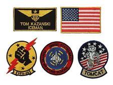 Top Gun Tom Kazanski ICEMAN Screen Accurate patches set ,  6 Embroidered badges