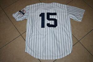 New! Thurman Munson New York Yankees White Pinstripe Baseball Jersey Men's XXXL