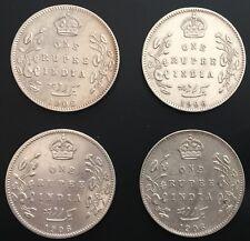 BRITISH INDIA 1906 B ONE RUPEE 0.917 SILVER Edward VII