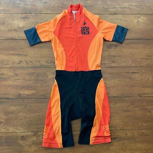Hincapie Mens Small Cycling Skinsuit Orange Mad Dog 83 Speedsuit Racesuit S