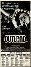 29/8/81PGN22 ADVERT: NOW SHOWING IN LONDON SEAN CONNERY IN OUTLAND 15X7
