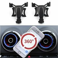 360 Degree Rotary Car Air Vent Outlet Mount Phone Holder Bracket For Audi A3/S3