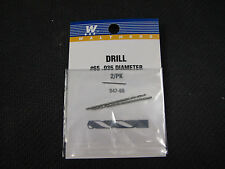 "Walthers Hobby Tools:  Drill Bits (pack of 2) .035""  #65  947-65"