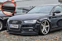 Spoilerschwert Frontspoilerlippe ABS Audi A4 B8 Facelift ABE schwarz glänzend